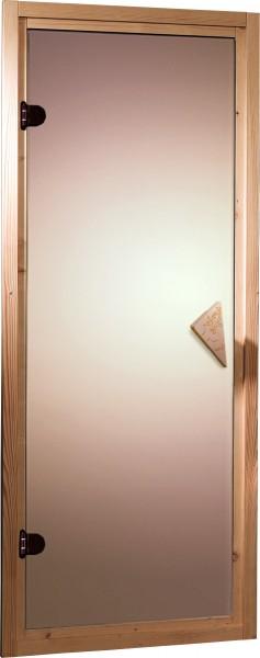 Sauna Türelement 64 x 173 cm bronziert