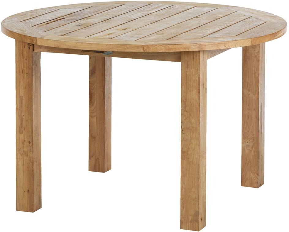 Gartentisch Tisch BELMONT Recycled Teak Natur Ø 120 cm rund