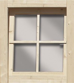 Gartenhaus Dreh-/Kippfenster 28 mm