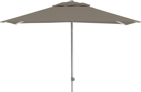 EASY-PUSH Schirm 200 x 200 cm silber/taupe