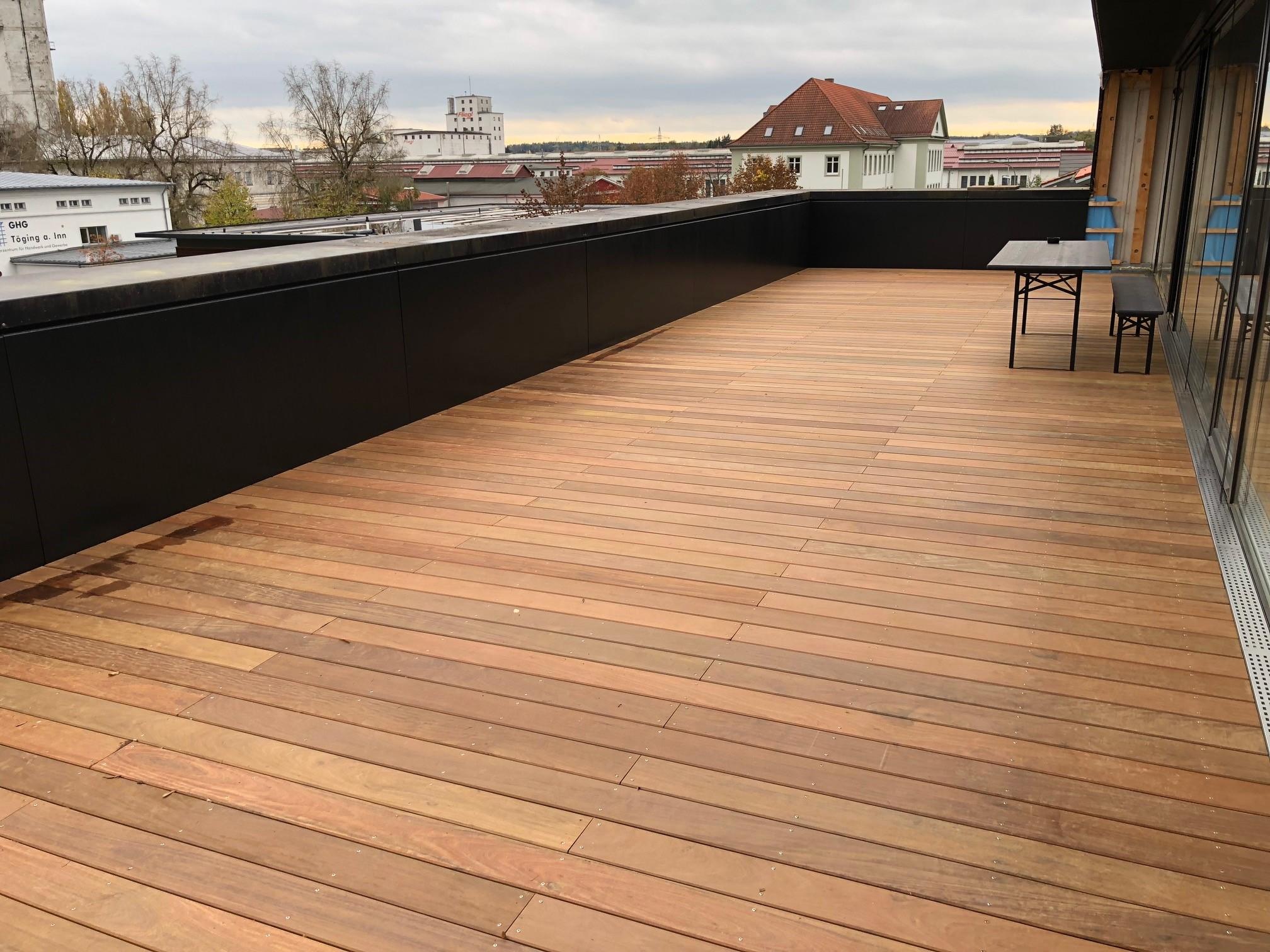 Dachterrasse Holz