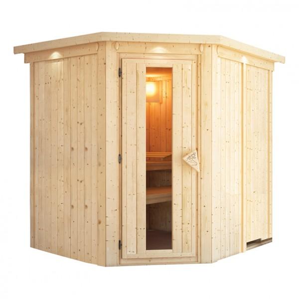 karibu sauna 230 volt lobin 2 10 x 1 85 m 68 mm mit 3 6 kw ofen energiesparsauna ebay. Black Bedroom Furniture Sets. Home Design Ideas