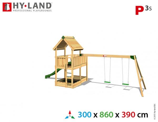 Spielplatzgerate:_Spielturm_mit_Schaukel_und_Rutsche_P3s