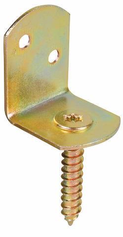 Flechtzaunbeschlag L-Form verzinkter Stahl, Edelstahl 25 Stück