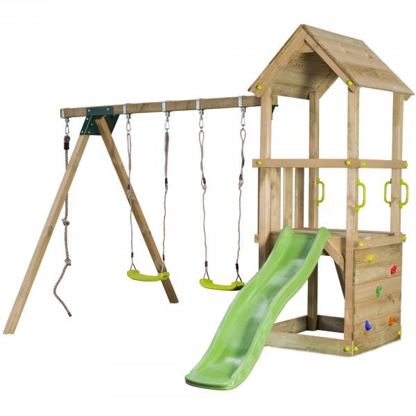 Gut gemocht Spielturm LOFT Rutsche Schaukel Sandkasten Kletterturm Spielplatz HX08