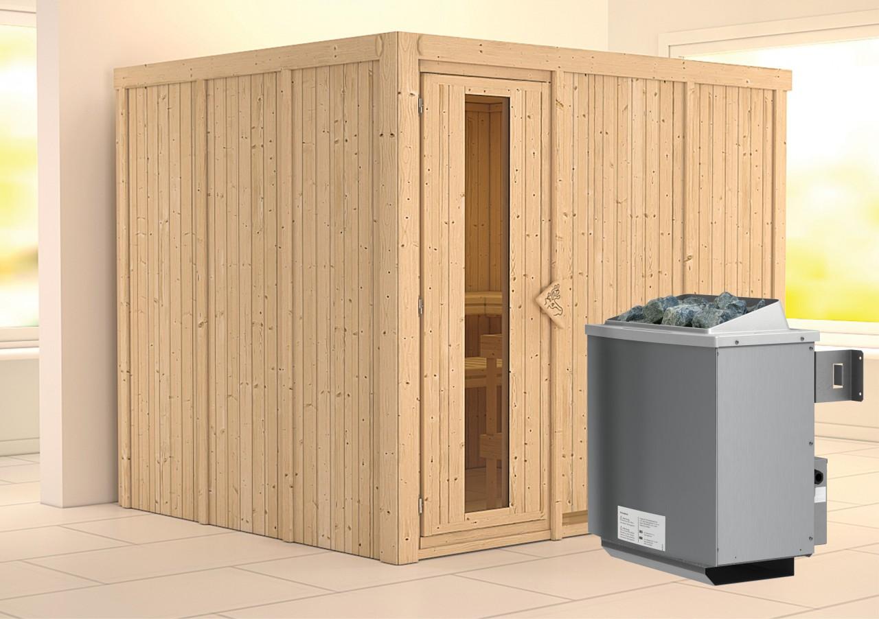 Sauna GOBIN 2,31 x 1,96 m - 9.0 kW Ofen integr....
