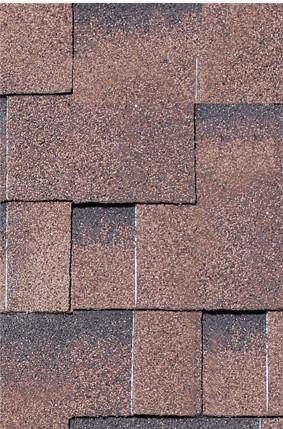 Dachschindeln Asymmetrisch 3 m² rot geflammt