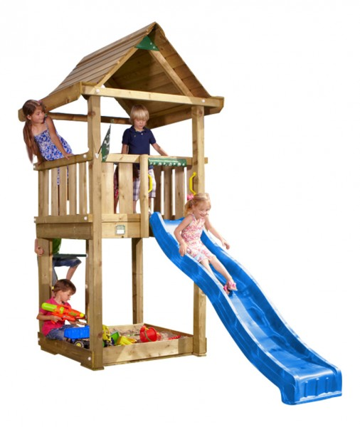 jungle gym spielturm house kletterturm mit rutsche spielhaus sandkasten massiv ebay. Black Bedroom Furniture Sets. Home Design Ideas
