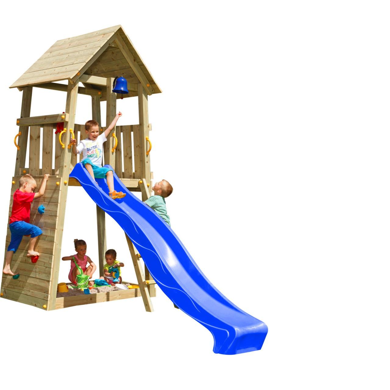 Spielturm BELVEDERE mit Rutsche 2,90 m Blau