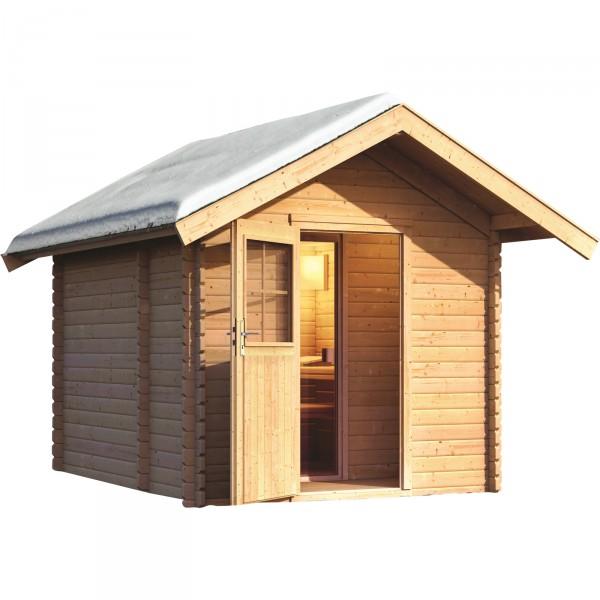 gartensauna saunahaus 2 mit vorraum 2 94 x 3 47 m 38 mm. Black Bedroom Furniture Sets. Home Design Ideas