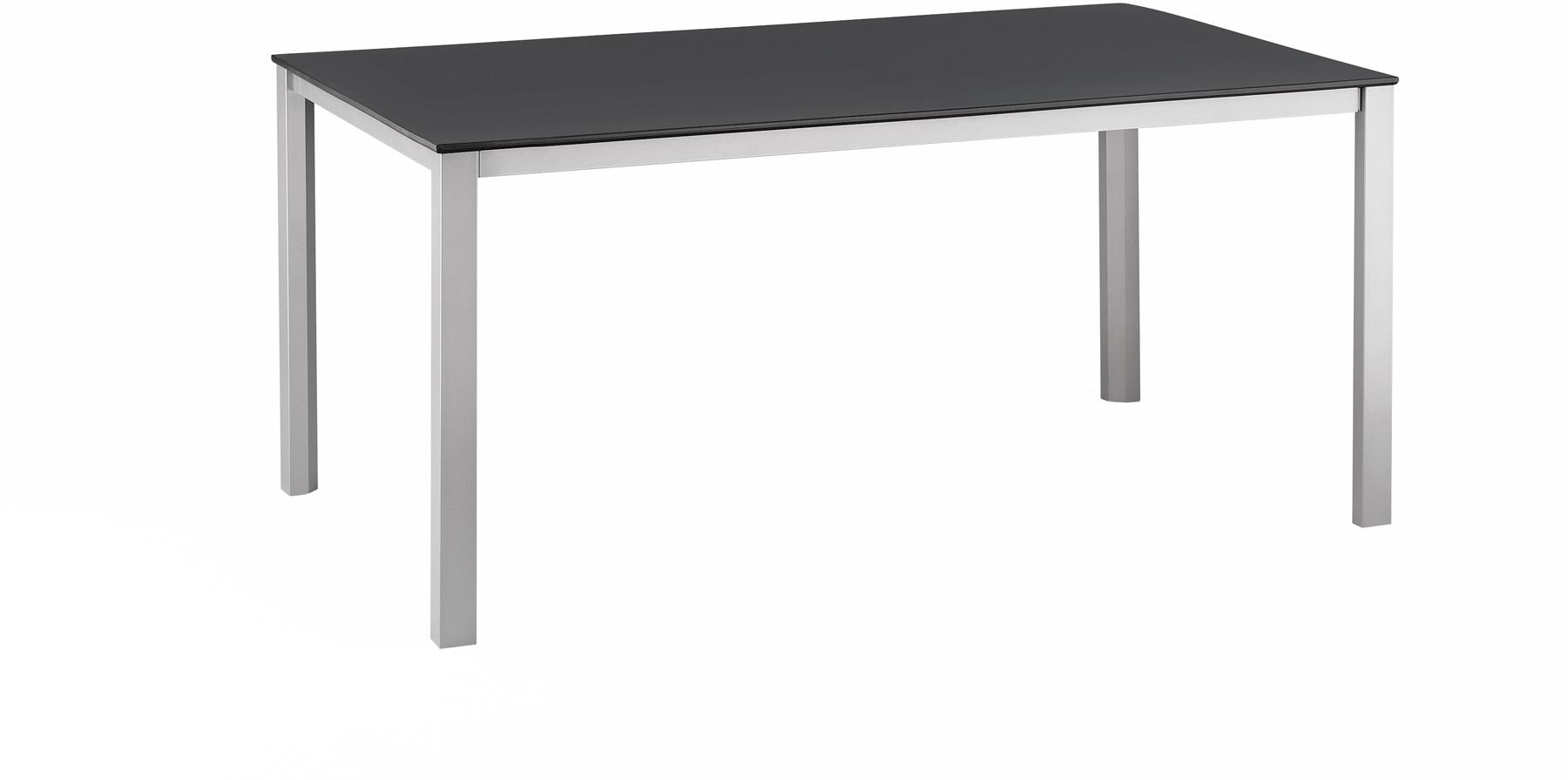 Kettalux Tisch 160 X 95 Cm Silber Anthrazit Gartentische