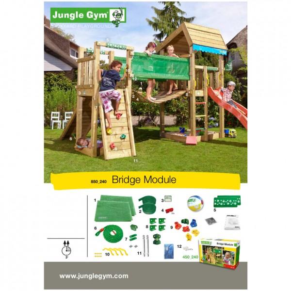 jungle gym noahs cabin spielturm set mit h ngebr cke. Black Bedroom Furniture Sets. Home Design Ideas