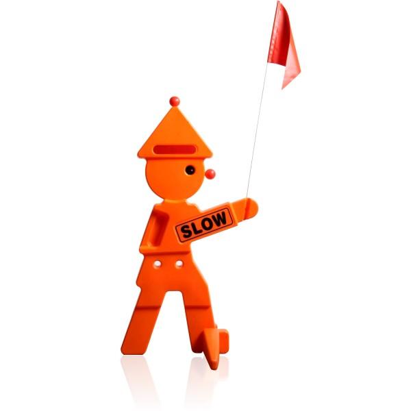 Warnfigur LEO Warnaufsteller orange