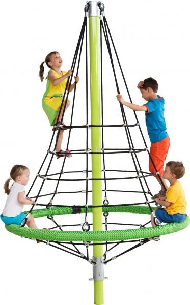 Klettergerüst FIRRY als Pyramide mit Kletternetz